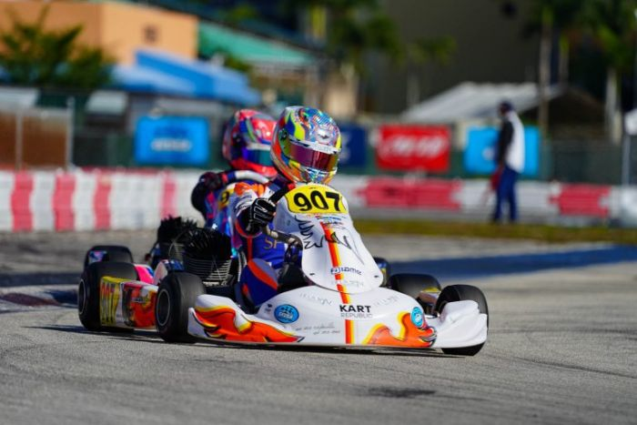 Arias Wins Two Back To Back Races in The Superkarts! USA Winter Series